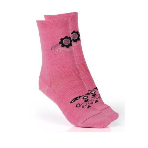 merino ponožky růžové